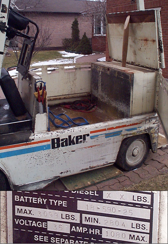 Baker forklift B30TE electric