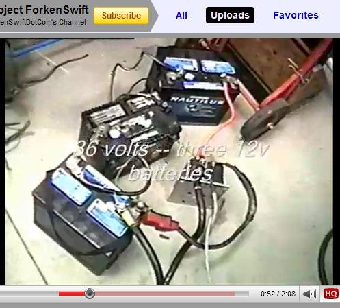 Marine 12 Volt Batteries Test Pack For Motor Controller