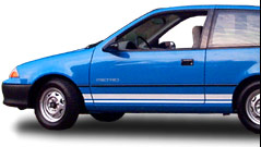ForkenSwift electric car: 48 volt/400 amp 1992 Geo Metro